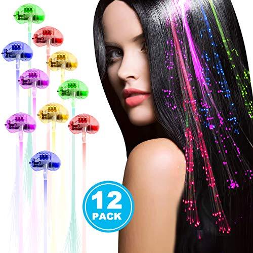 Light Up Fiber Optic Led Hair Lights in US - 8