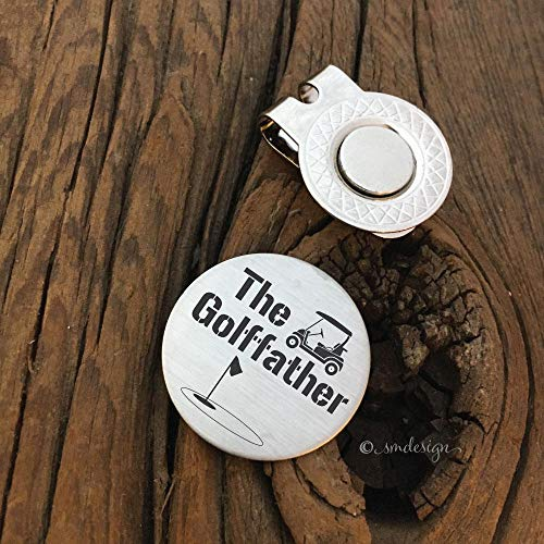 The Golffather Golf Ball Marker- Gift Godfather Communion Gift For Him God Parent Golfing gift Godparent Gift Golf Token Gift for Godfather