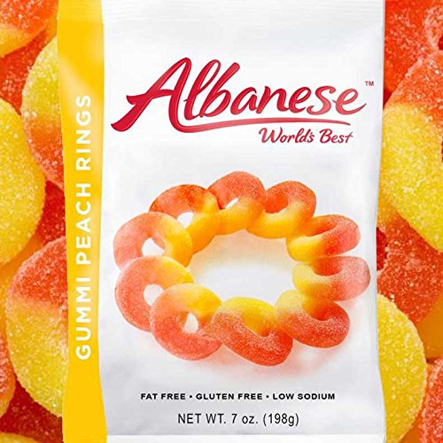 Gummi Peach Rings - 7 Oz Bag
