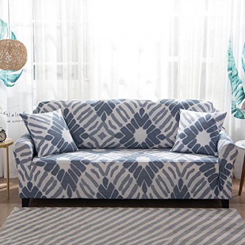 FORCHEER Couch Covers 1-Piece Stretch Printed Sofa Cover Polyester Spandex Couch Slipcovers for 3 Cushion Couch (Sofa, Style #9)