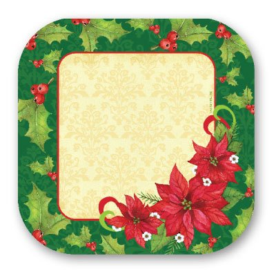 Poinsettia 9 Plate 8 Ct,Axiom International,72413 by DollarItemDirect