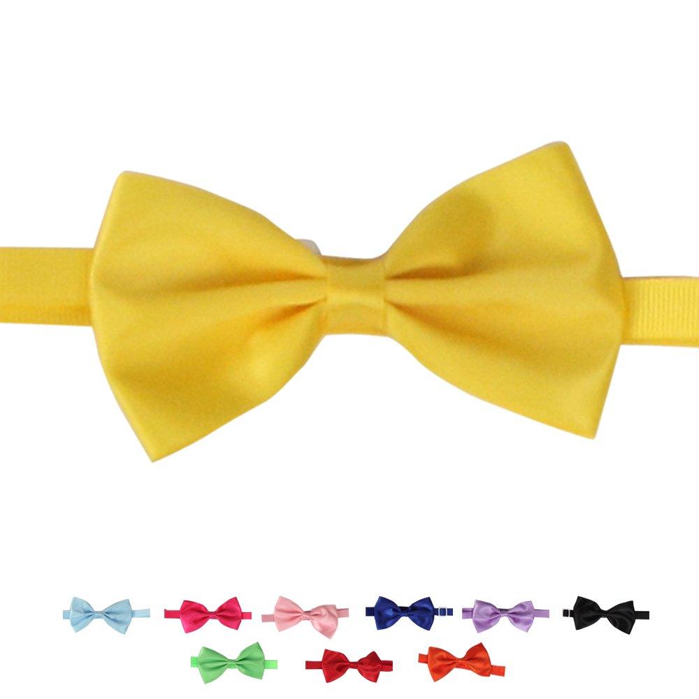50PCs Dog Collars Handmade Bow Tie Pure color Adjustable Detachable for Small Medium Dog
