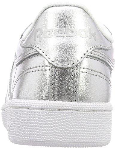 85 S Ginnastica Scarpe Donna Reebok white Argento Basse Da silver Club Shine C ZOwET41q