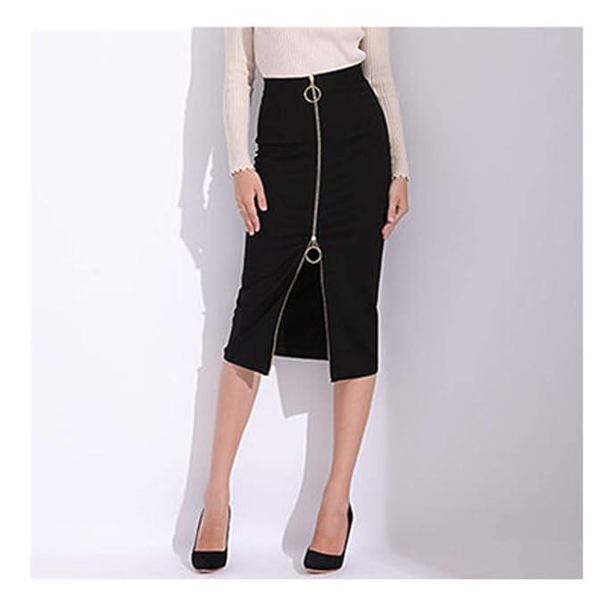6e155c73c36 Melissa Wilde womens skirts Women Bandage Pencil Skirt Black Long Sexy  Office Black High Waist Zipper Slim Plus Size at Amazon Women s Clothing  store