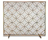 Cheap Pilgrim Home and Hearth 18311 Beford Single Panel Screen, Brushed Brass