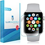 Apple Watch Screen Protector (42mm,Compatible Series 1/2/3)[6-Pack], ILLUMI AquaShield Full Coverage Screen Protector Apple Watch 42mm HD Clear Anti-Bubble Film