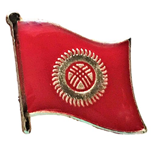 "Backwoods Barnaby Kyrgyzstan Flag Lapel Pin (0.75"" x 0.75"")"