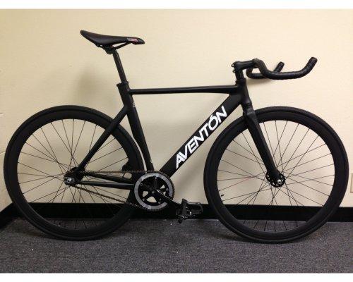 Galleon - Aventon Mataro Complete Fixie Track Bike Black By ...