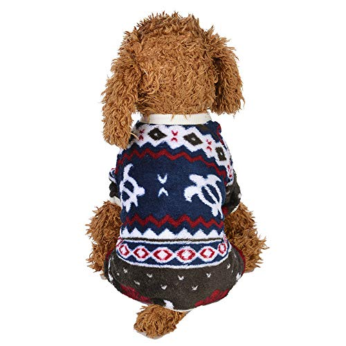 XoiuSyi Pet Cute Pattern Clothes Puppy Hoodie Sweater Two-Legged Clothes for Small Dog