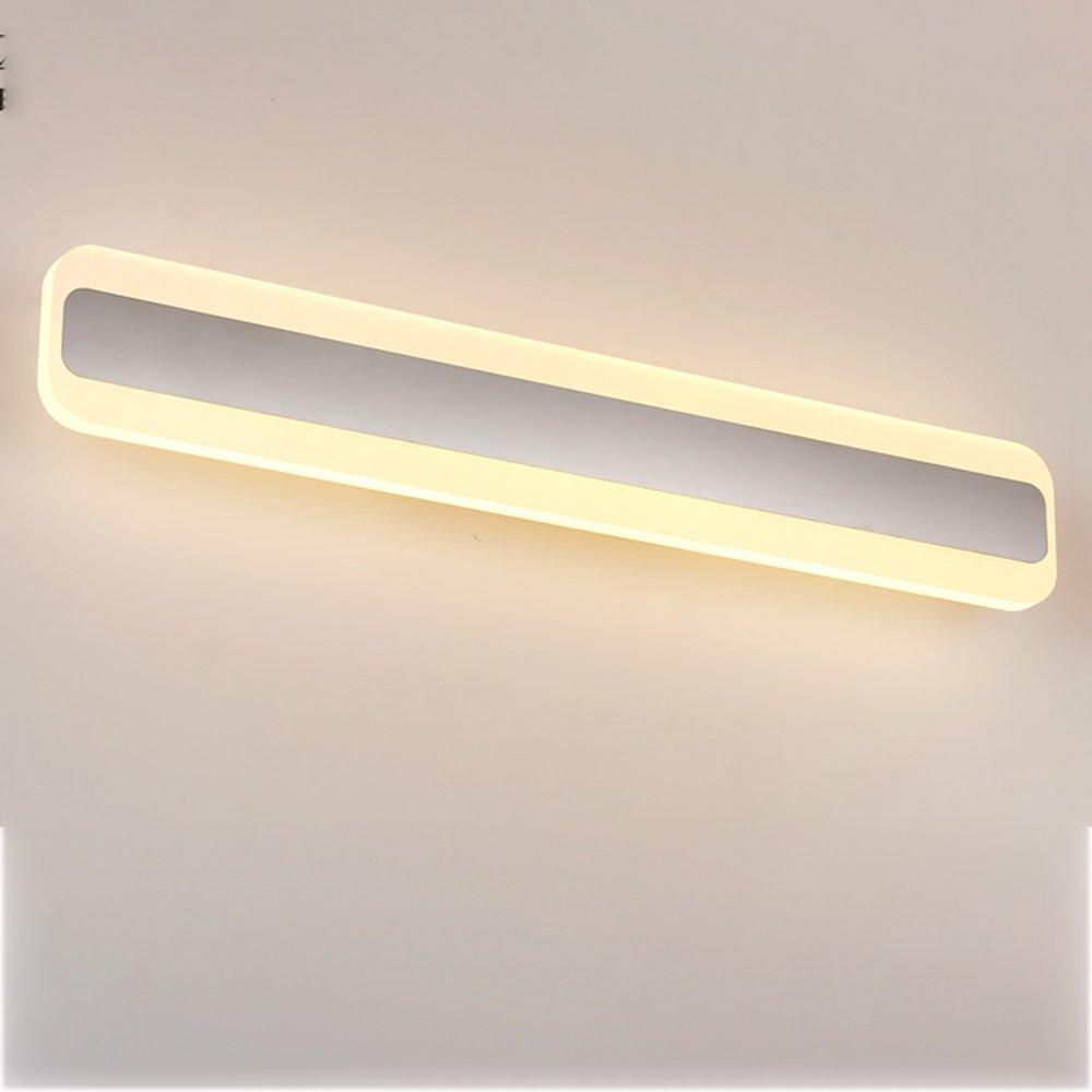Hyzb LED Badezimmer Spiegel Schlafzimmer Spiegel Beleuchtung Wasserdicht Anti-Fog Edelstahl Wandleuchte Weiß (Farbe   Warmes Licht)
