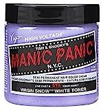 permament Manic Panic Semi-Permament Haircolor Virgin Snow 4oz Jar (2 Pack)