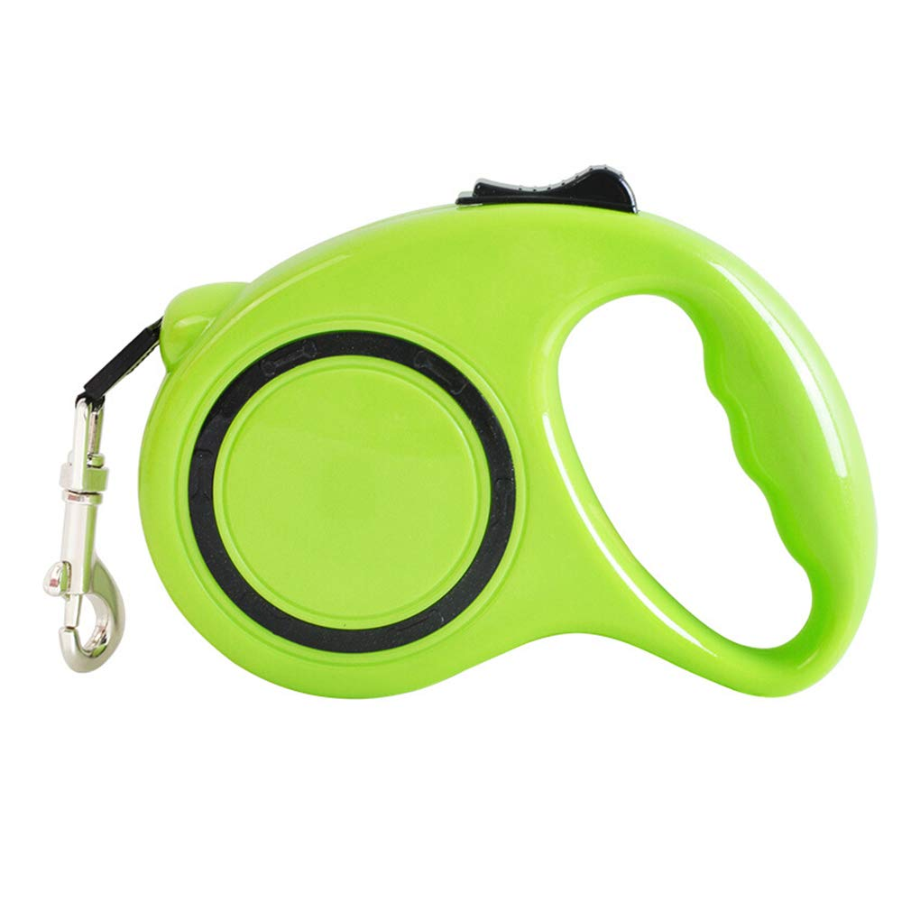 Retractable Dog Leads Extending Pet Leash 3m 9.8ft Dog Leash for Large Medium Small One Button Break & Lock Green