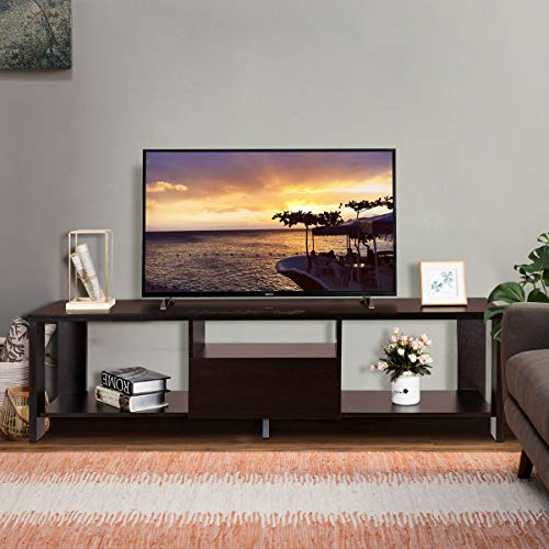 Tangkula TV Stand Home Living Room Modern Wood Entertainment Media Center  Storage Console w/Drawer and Display Shelf TV Cabinet (Espresso Stand)