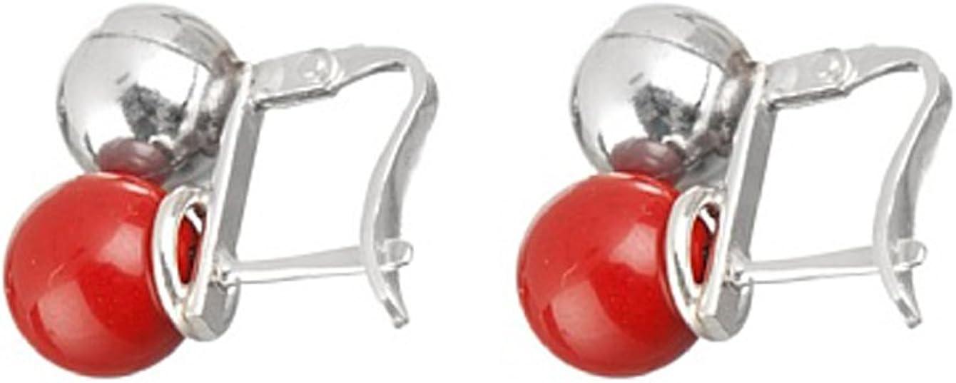 Córdoba Jewels | Pendientes en plata de Ley 925. Diseño Tú y Yo Coral Catalán