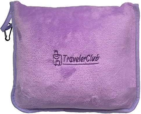 TravelerClub Compact Airline Blanket Plane Set Portable Throws Camping product image