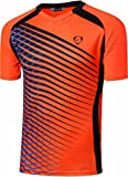 Sportides Big Boy's Quick Dry Active Sport Short Sleeve Breathable Tshirts T-Shirts Tees Tops LBS708 Orange L