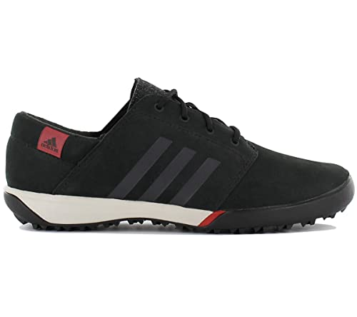 sports shoes 1c218 2de2f adidas Daroga Sleek W Damen Leder Schuhe Schwarz Outdoor Wanderschuhe  Sportschuhe