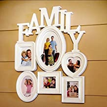 Yamalans Plastic Family Photo Frame Wall Hanging Picture Holder Display Home Room Decor