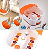 Maxeon Foot Spa Footbath & Roller Massager for Pain Relieve and Feet Care (Orange)