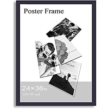 adecopf0392 decorative black wood 125 wide margin wall hanging poster picture photo frame 24x36