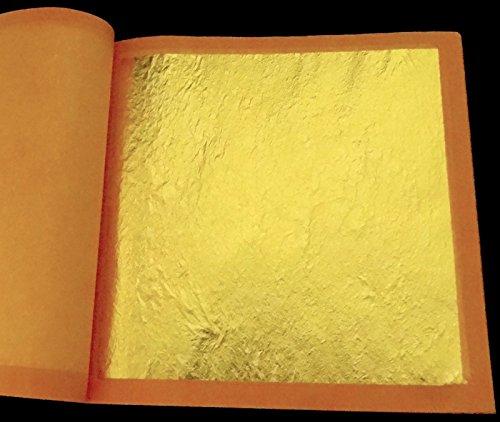 - 23K Genuine Gold Leaf Loose (5 Sheets)
