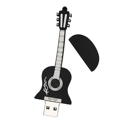 Gazechimp 1x Unidad Memoria USB Electrónica de Consumo Ordenador Portátil Forma Guitarra Compatibilidad Universal Duradero Impermeable