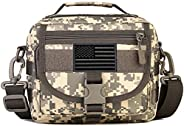 Protector Plus Tactical Messenger Bag Men Small Military MOLLE Crossbody Pack (Patch Included)