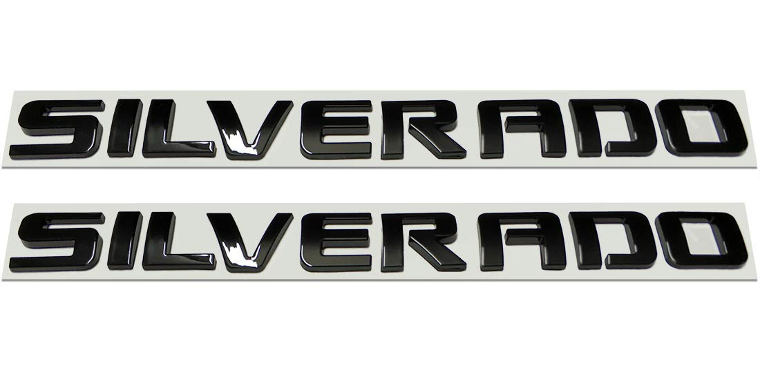Yoaoo 2pcs OEM Black SLE Letter Nameplate Emblems Badges 2008-2015 Cruze Silverado Sierra