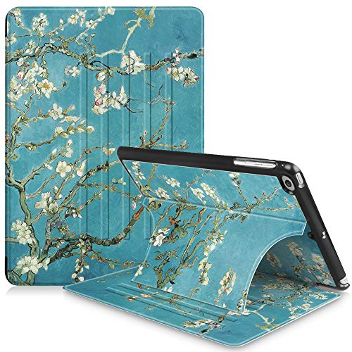 Fintie iPad 9.7 Inch 2018 2017 / iPad Air 2 / iPad Air Case - [Multiple Secure Angles] Slim Magnetic Kickstand Cover Auto Sleep/Wake Feature for iPad 9.7 (6th Gen, 5th Gen), Blossom