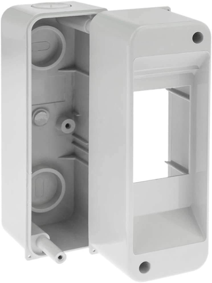 Electrical automation surface box for 2 modules of 18 mm ABS plastic BeMatik