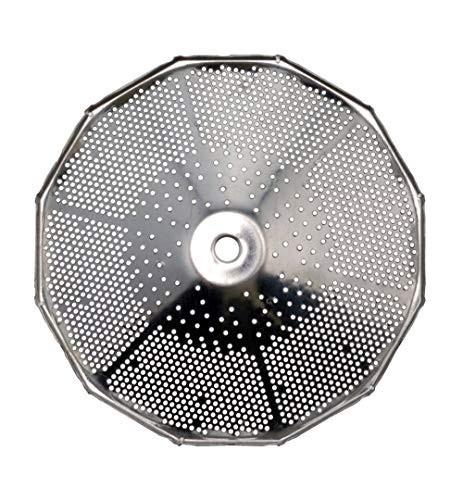 Paderno World Cuisine Sieve for 5-Quart Tin Food Mill with 1/16-Inch Perforations