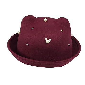 Sombrero elegante gorro de invierno sombrero bombín sombrero de ancho ala  sombrero para niña B 974a653c6f9