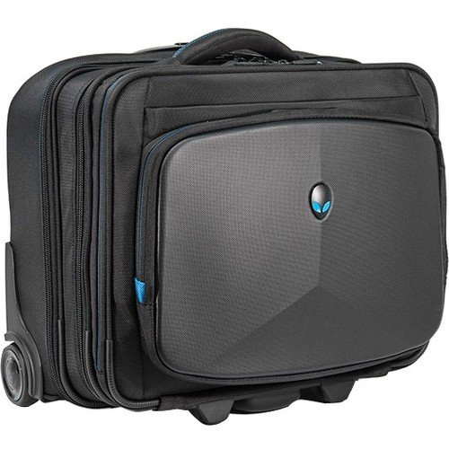 Edge Notebook Briefcase (Mobile Edge Alienware Vindicator Bag Rolling Laptop Case 13 Inch to 17 Inch Black AWVRC1)