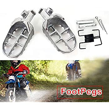Yingshop Foot Pegs Rest Footpegs Replacement for Yamaha PW50 PW80 PW 50 80 BW80 DT50 RT100 RT180 T225S TT225T TTR110 TTR50E TTR90 TTR90E TW200 WR200 WR250 WR500 XT225 XT250 XT350 XT600 1981-2015