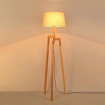 Lámpara de pie Lámpara de Piso Madera Maciza, Nordic Living ...