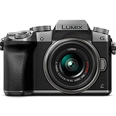 PANASONIC LUMIX G7 4K Mirrorless Camera, with 14-42mm MEGA O.I.S. Lens, 16 Megapixels, 3 Inch Touch LCD, DMC-G7KS (USA SILVER)