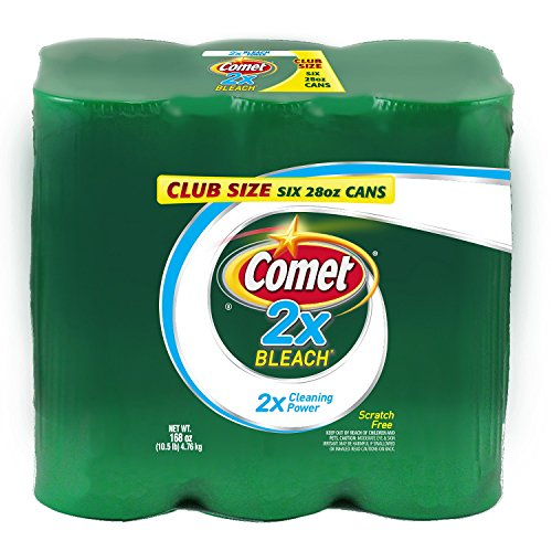 Comet 2X Bleach Scratch Free All-Purpose Powder Disinfectant Cleanser: Club Size 6-Pack (28 oz.)