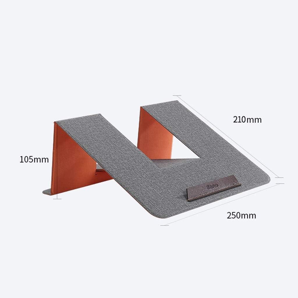 Portable Laptop Stand Non-Slip Design PU Leather Universal Ergonomic Bracket Living Room Ace xiangyv 25cmX21cmX10.5cm Ventilated Laptop Stand