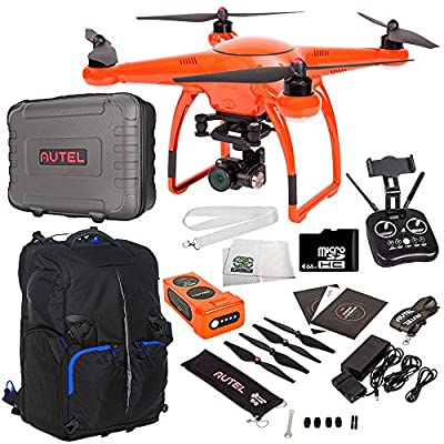 Autel Robotics X-Star Premium Quadcopter with 4K Camera and 3-Axis Gimbal Accessory Bundle - Includes Manufacturer Accessories + 64GB Micro SD Card + Drone Backpack + MORE from SSE