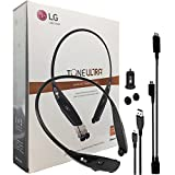 By JBL - LG Tone Ultra 810 Bluetooth Wireless Stereo Headset with Car Charger, Ear Gels And RIM Y Wire (Certified Refurbished)