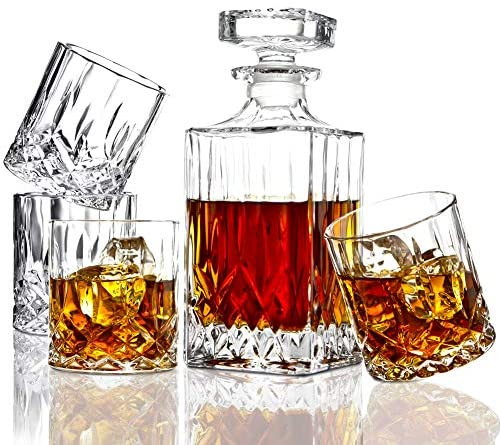 ELIDOMC Italian Crafted Crystal Decanter product image