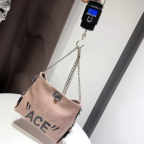 Powlance Plata Bolso al Hombro UK01 para 2cj3ah9th4lv1xa4D02 Mujer Rosa Plateado dqqrRXxw