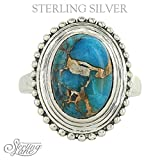 Montana Silversmiths Sterling Lane Copper Turquoise Oval Ring (SLRG010) (8)