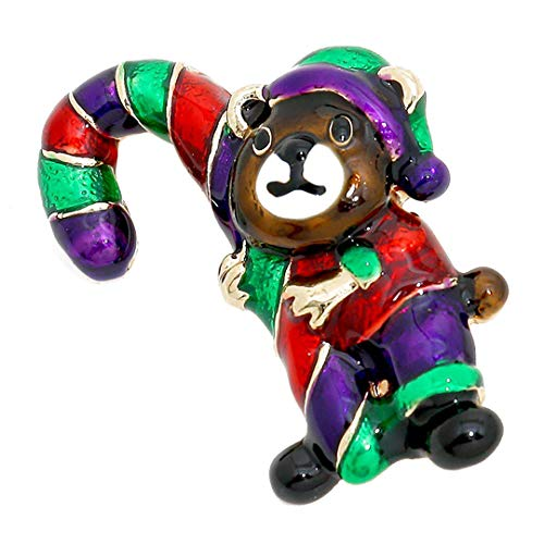 - Kigmay Jewelry Christmas Outfit Collection 2019 Bear with Candy Cane Brooch