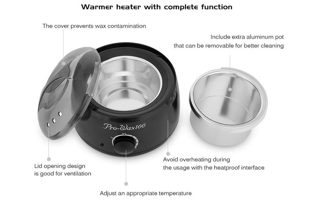 depilación con cera Calentador de calentamiento SPA mano depiladora pies parafina cera Recargable instrumento de depilación Depilatoria Cuerpo Máquina: ...