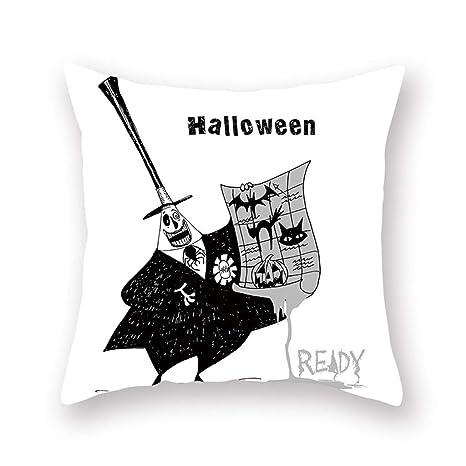 Funda De Almohada De Estampado De Halloween Abrazo Negro ღ ...