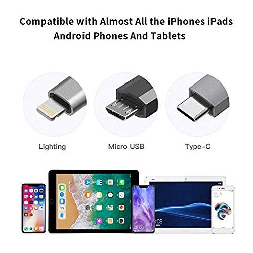 Bambud WiFi Wireless Display Dongle for iOS//Micro USB//Type C Phone Tablet to TV//Projector//Monitor Black 1080P AV MHL HDTV Connector Compatible with iPhone iPad Android USB to HDMI Adapter Cable
