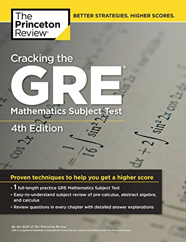 Pdf Science Cracking the GRE Mathematics Subject Test, 4th Edition
