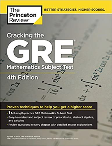 Cracking The Gre Math Subject Test Pdf