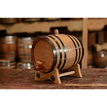 2-Liter American Oak Barrel | Handcrafted using American White Oak | Age your own Whiskey, Beer, Wine, Bourbon, Tequila, Hot Sauce & More